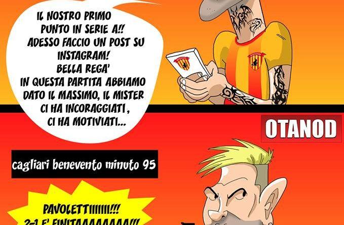 Cagliari-Benevento di FIFA comics