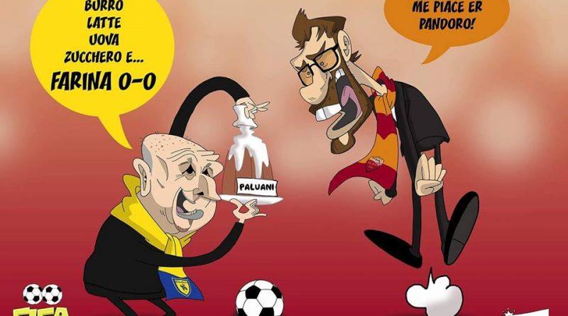 Chievo-Roma 0-0 di FIFA comics