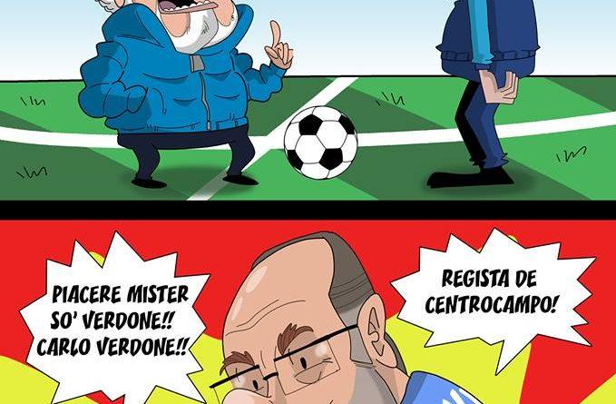 De Laurentiis prende Verdone al posto di Verdi di FIFA comics