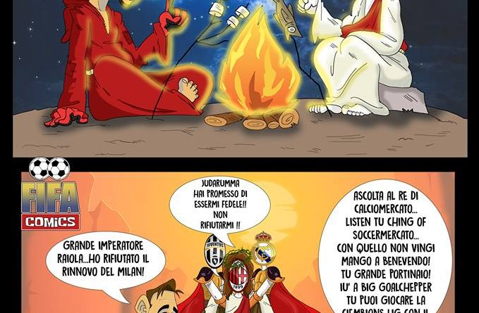 Vignette Calcio - Donnarumma non rinnova col Milan di FIFA comics