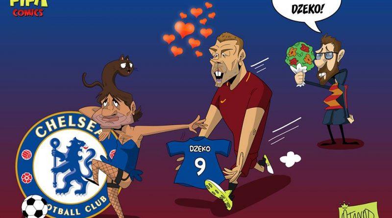 Dzeko al Chelsea di FIFA comics