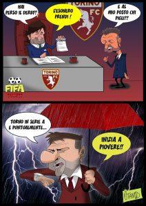 Esonero Mihajlovic e Mazzarri al Torino di FIFA comics