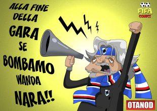 Ferrero prima di Inter-Sampdoria di FIFA comics