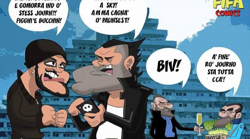 Gomorra e Napoli-Juventus di FIFA comics