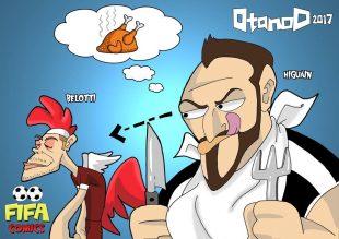 Higuain contro Belotti di FIFA comics