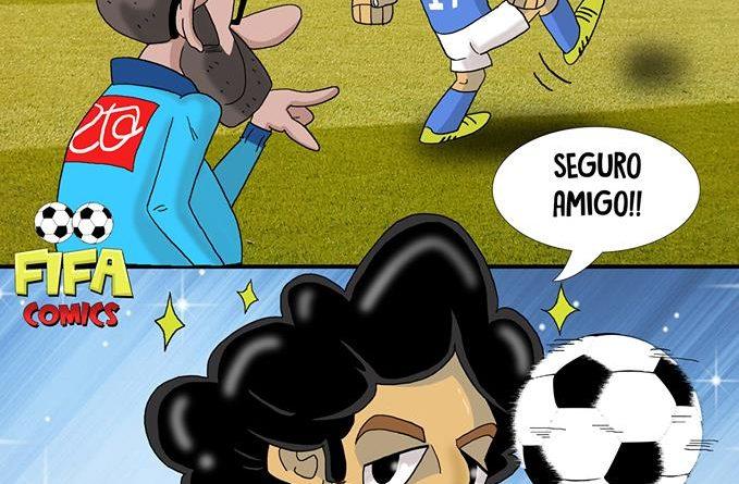 Il goal di Mertens alla Maradona contro la Lazio di FIFA comics