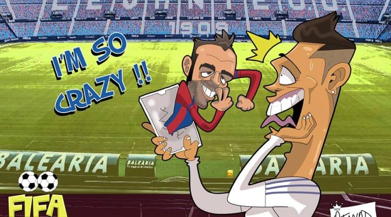 Il goal di Pazzini in Levante-Real Madrid di FIFA comics
