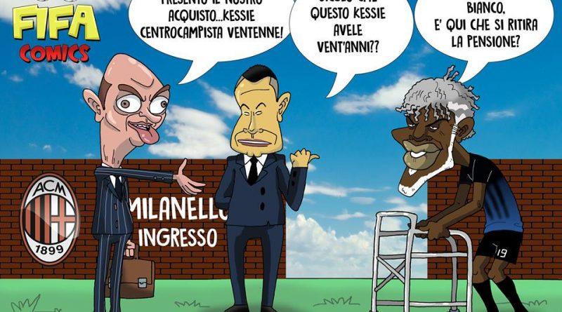 Kessié arriva al Milan di FIFA comics