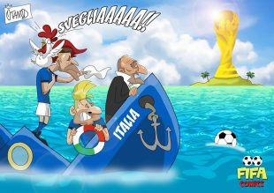 L'Italia di Ventura affonda in Svezia di FIFA comics