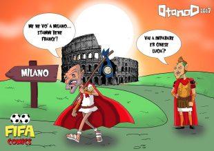 L'addio di Spalletti alla Roma di FIFA comics