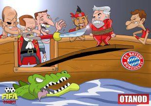 L'esonero di Ancelotti di FIFA comics