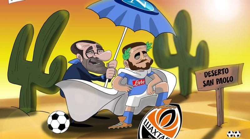 Napoli-Shakhtar nel San Paolo deserto di FIFA comics
