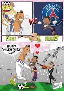 Real Madrid-PSG a San Valentino di FIFA comics