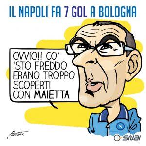 Sarri dopo Bologna-Napoli di Michelangelo Manente