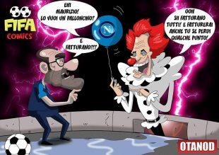 Sarri e Allegri-Pennywise di FIFA comics
