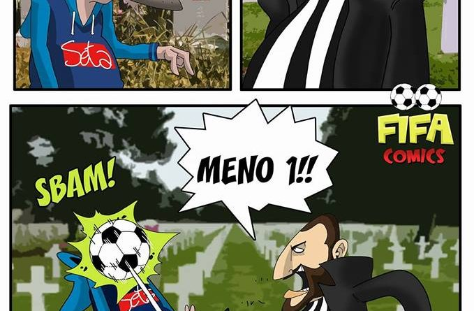 Sarri e Higuain in stile Gomorra di FIFA comics