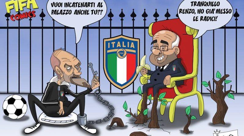 Tavecchio attaccato alla poltrona di FIFA comics