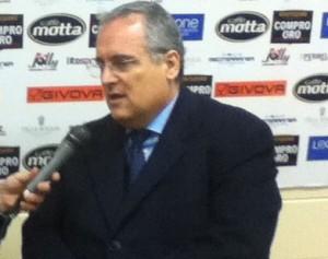 Claudio Lotito. Fonte: Fabio Tarantino
