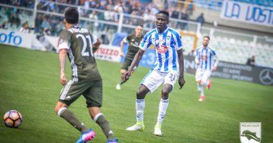 Pescara-Frosinone 3-3: all'Adriatico è pari spettacolo