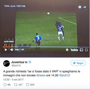 Tweet Juventus-Inter 1998