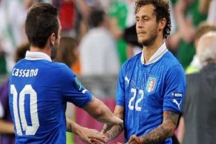 Diamanti e Cassano ad Euro 2012 - Fonte immagine: bolognafc.it