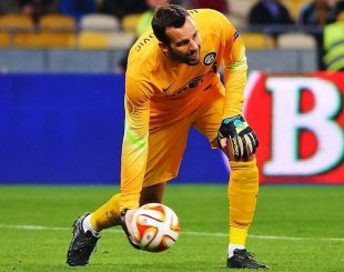 Handanovic all'Inter - Fonte immagine: Илья Хохлов - Football.ua, Wikipedia