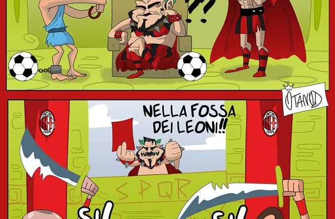 Gattuso conquista Roma di FIFA comics
