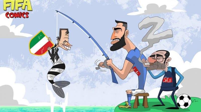 Il Napoli riprende la Juventus di FIFA comics