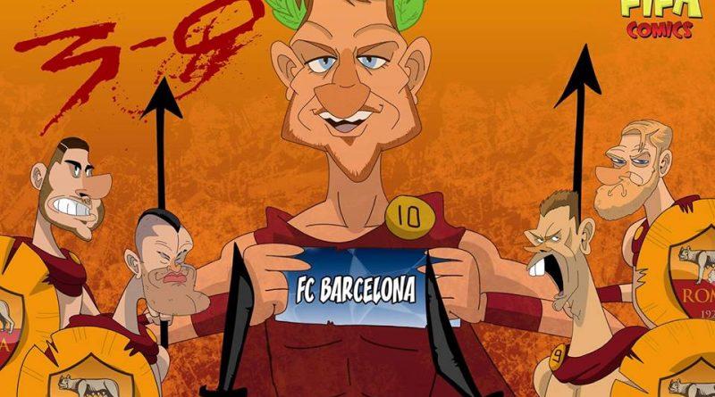 La rimonta epica della Roma contro il Barcellona di FIFA comics