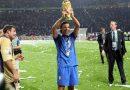 Zaccardo con la Coppa del mondo a Berlino 2006