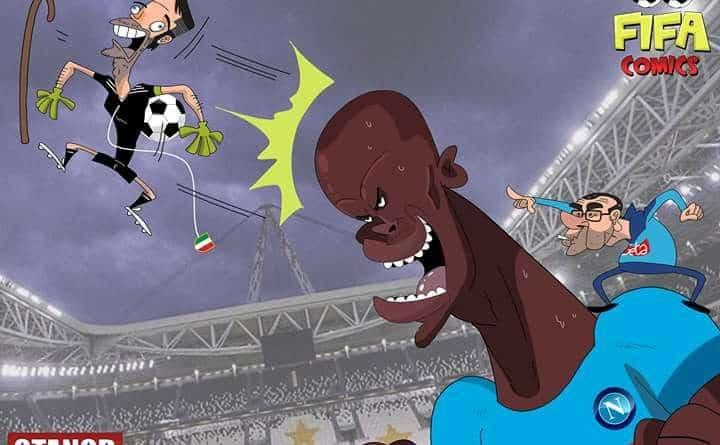 Il goal di testa di Koulibaly alla Juventus di FIFA comics