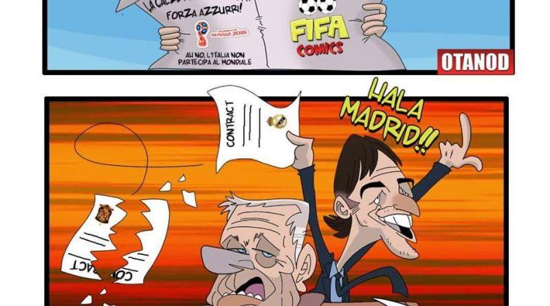 Zamparini commenta l'esonero di Lopetegui d FIFA comics
