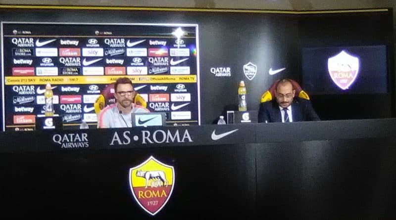 Roma - Di Francesco in conferenza