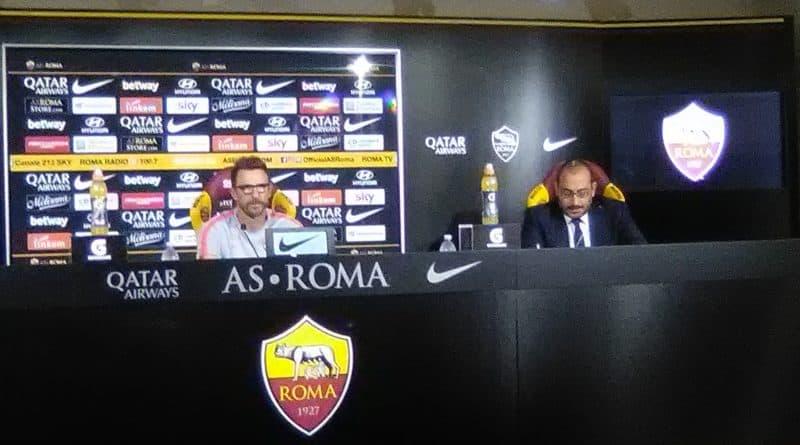 Roma - Di Francesco in conferenza