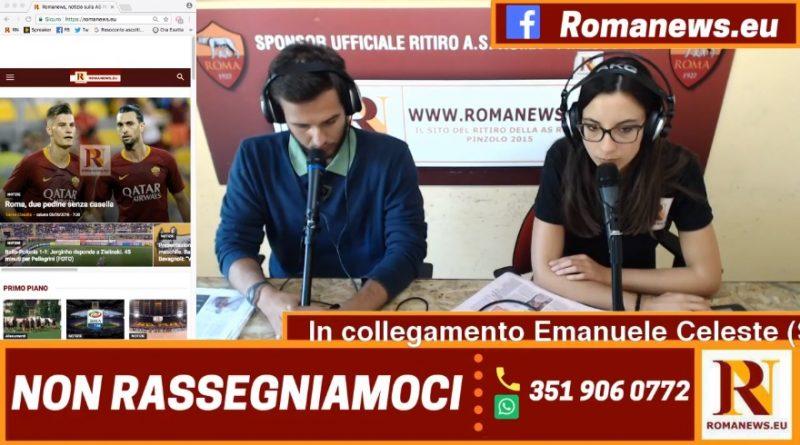 Emanuele Celeste in collegamento con 'Non rassegniamoci' di Romanews
