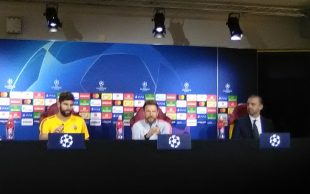 Roma, Di Francesco e Fazio in conferenza
