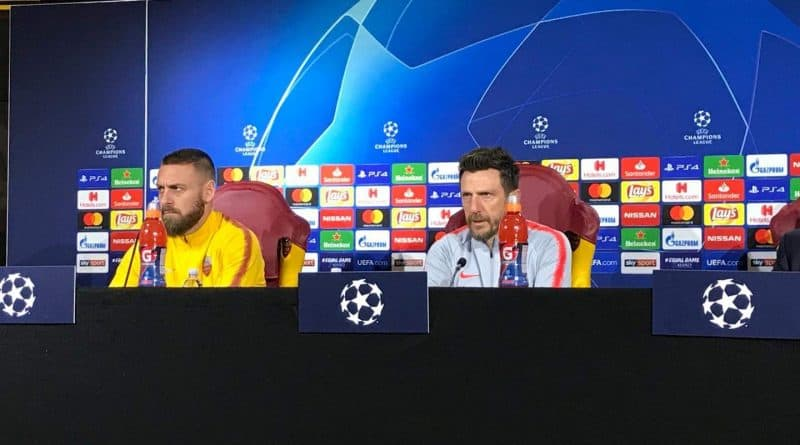 Roma, Di Francesco e De Rossi in conferenza