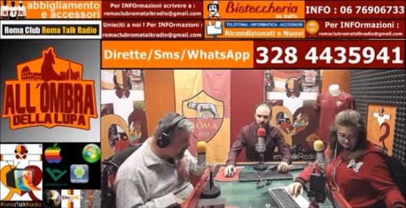 Emanuele Celeste in collegamento con 'All'ombra della Lupa' di Roma Talk Radio