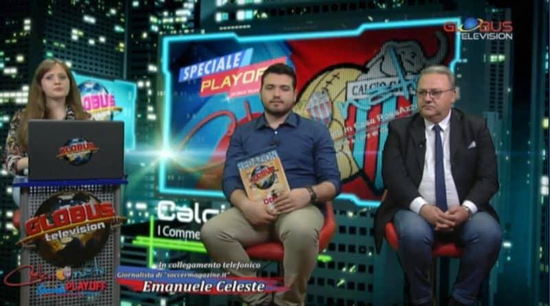 Emanuele Celeste in collegamento con 'Calcionate' di Globus Television