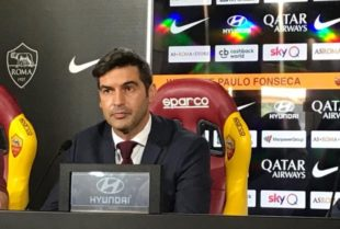 Roma, Fonseca in conferenza