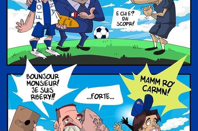 Commisso porta Ribery da Montella alla Fiorentina di FIFA comics