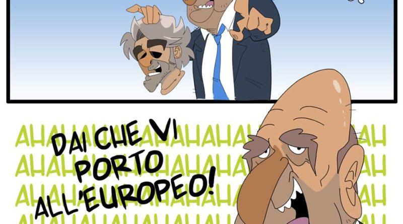 Ventura mascherato da Mancini di FIFA comics