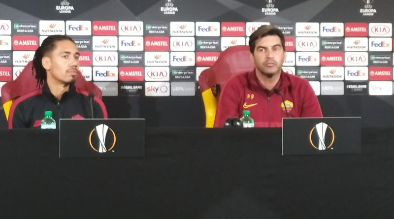 Roma, Fonseca e Smalling in conferenza a Trigoria