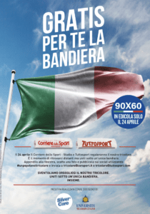 CDS e TS regalano la bandiera italiana