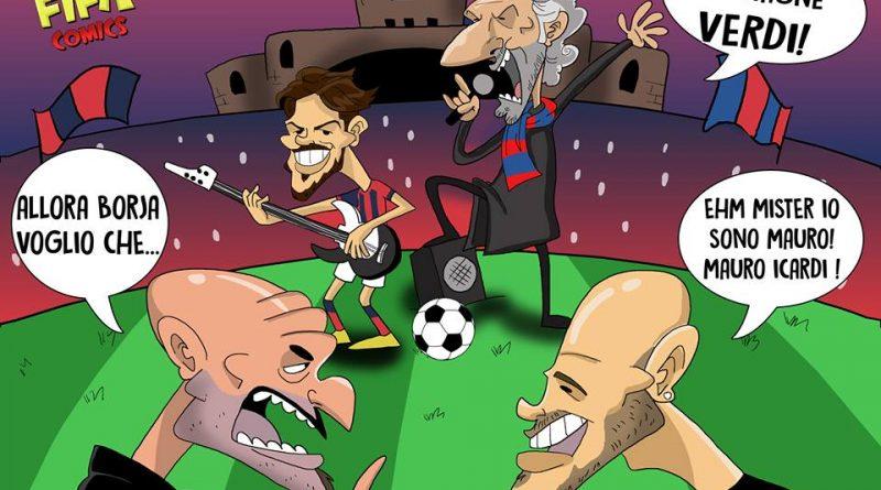 Bologna-Inter di FIFA comics