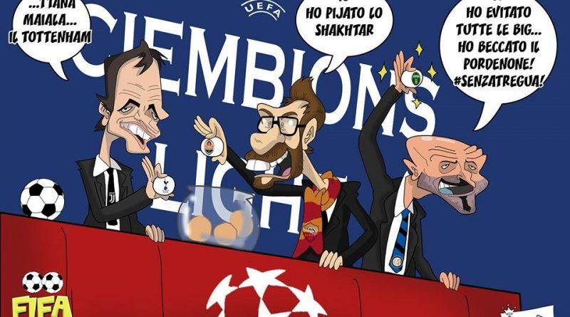 I sorteggi di Champions con Inter-Pordenone di FIFA comics
