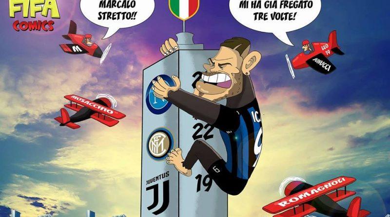 Icardi e il Milan dopo il derby di FIFA comics