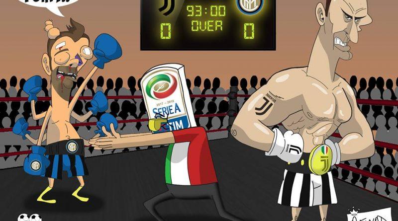 L'Inter non va al tappeto contro la Juventus di FIFA comics