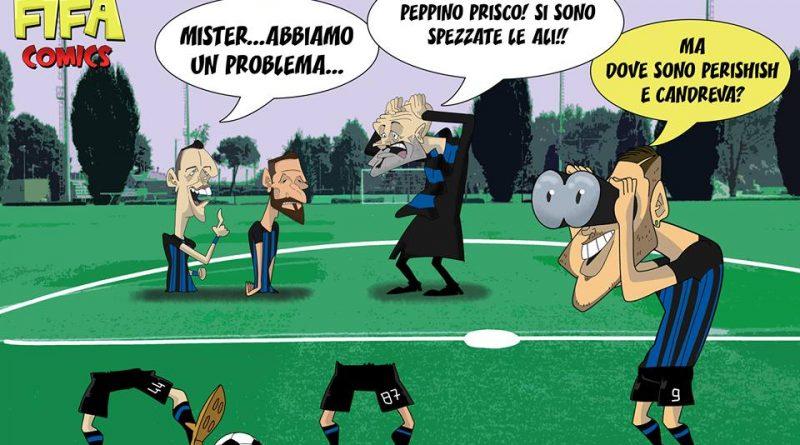 Le ali spezzate dell'Inter di FIFA comics