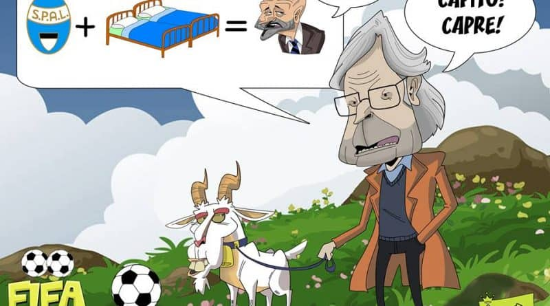 Sgarbi e il rebus su Spalletti di FIFA comics